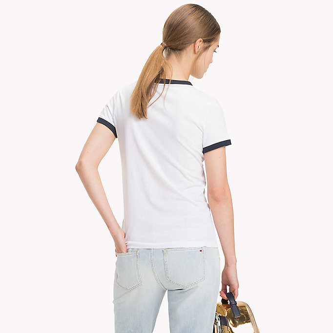 TOMMY HILFIGER DAX ROUND-NK TEE SS - SILVER PEONY - TOMMY HILFIGER Mujer - imagen detallada 1