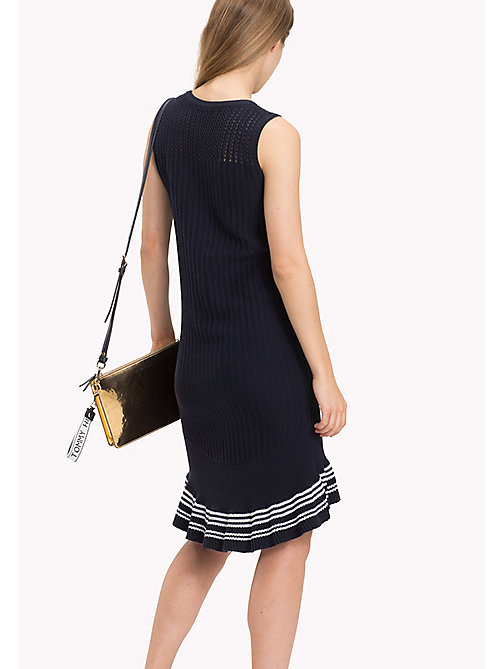 TOMMY HILFIGER Knitted Ruffle Hem Dress - MIDNIGHT - TOMMY HILFIGER Occasion wear - detail image 1