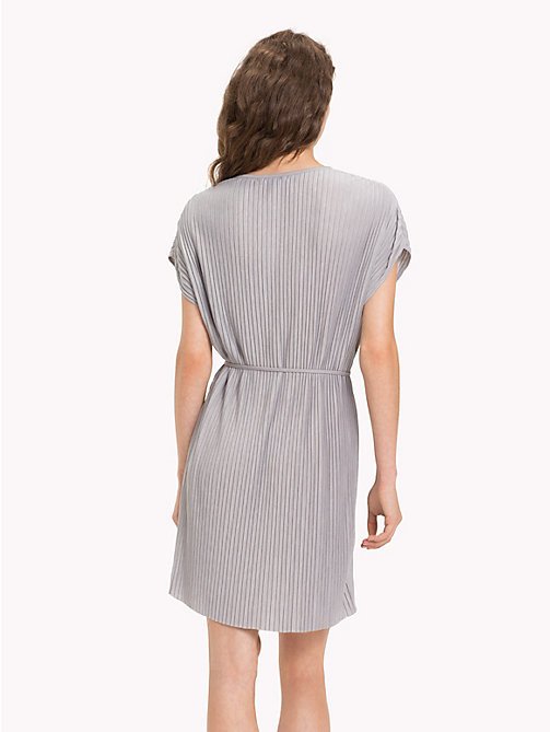 TOMMY HILFIGER Pleated Short Dress - LIGHT GREY HTR - TOMMY HILFIGER Midi - detail image 1