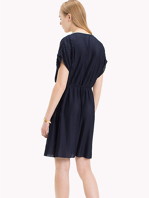 TOMMY HILFIGER Pleated Short Dress - MIDNIGHT - TOMMY HILFIGER Midi - detail image 1