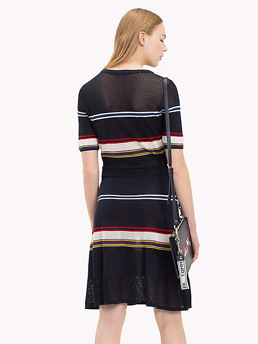 TOMMY HILFIGER Multicolour Stripe Dress - MIDNIGHT / MULTI - TOMMY HILFIGER Midi - detail image 1