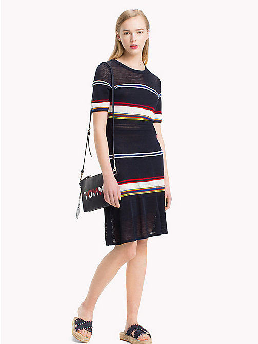 TOMMY HILFIGER Jurk met multicolourstreep - MIDNIGHT / MULTI - TOMMY HILFIGER Middellang - main image