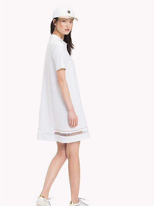 TOMMY HILFIGER Ladder Hem Polo Dress - CLASSIC WHITE - TOMMY HILFIGER Mini - detail image 1