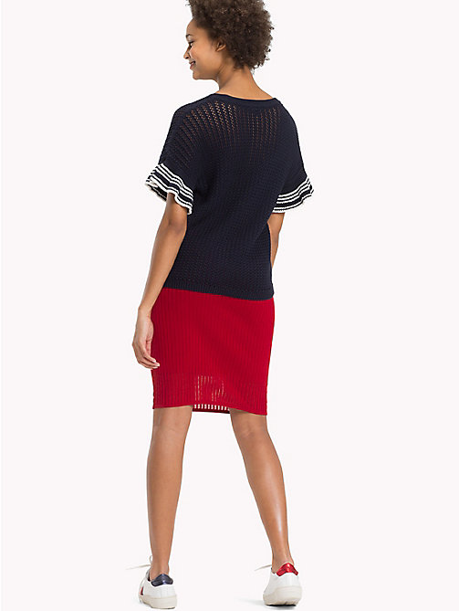 TOMMY HILFIGER Knee Length Pencil Skirt - POMPEIAN RED - TOMMY HILFIGER Skirts - detail image 1