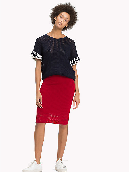 TOMMY HILFIGER Knee Length Pencil Skirt - POMPEIAN RED - TOMMY HILFIGER Skirts - main image
