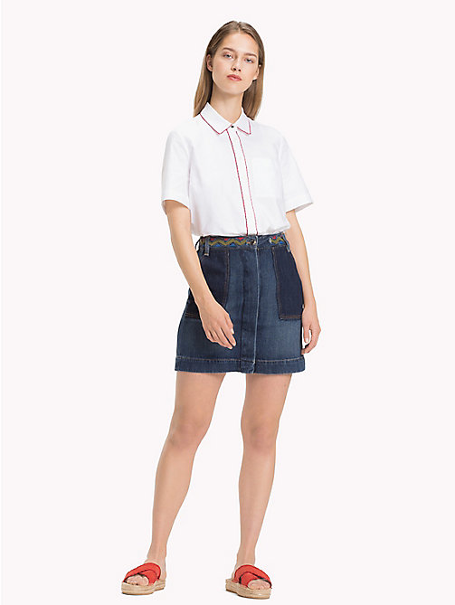 TOMMY HILFIGER Bohemian Embroidered Denim Skirt - ASPEN - TOMMY HILFIGER NEW IN - main image