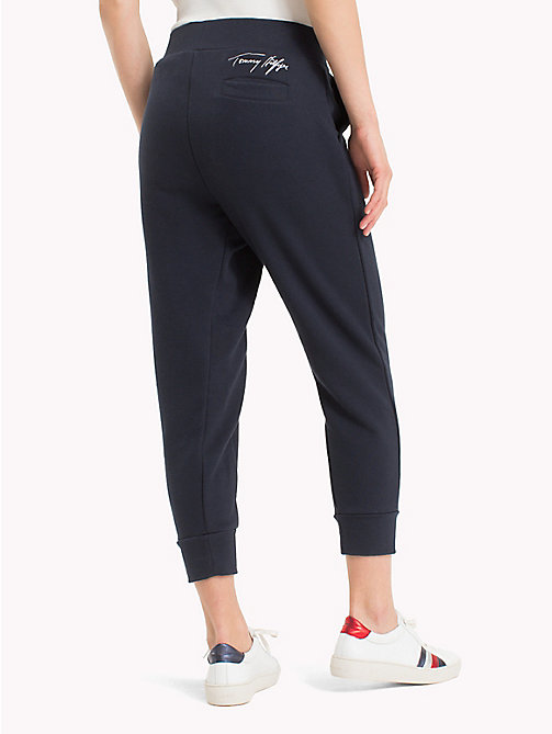TOMMY HILFIGER Signature Drawstring Jogging Bottoms - MIDNIGHT - TOMMY HILFIGER Trousers - detail image 1