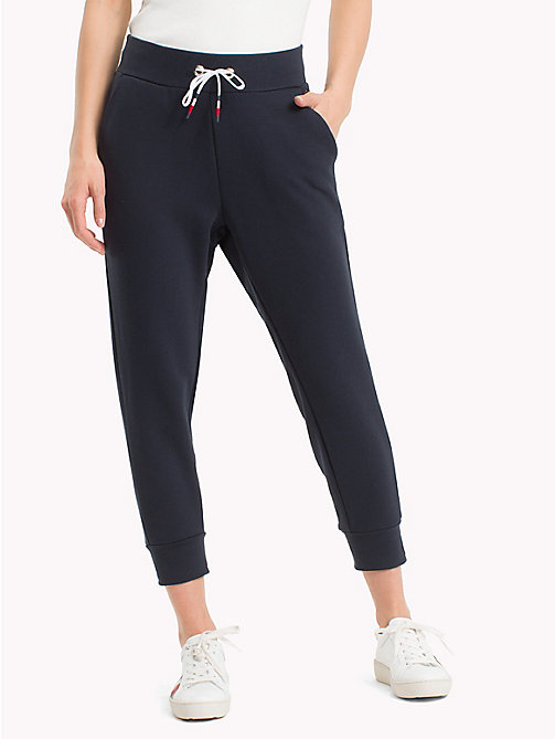 TOMMY HILFIGER Signature Drawstring Jogging Bottoms - MIDNIGHT - TOMMY HILFIGER Trousers - main image
