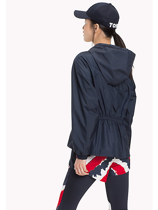 TOMMY HILFIGER Air Mesh Peplum Windbreaker - MIDNIGHT - TOMMY HILFIGER Jackets - detail image 1