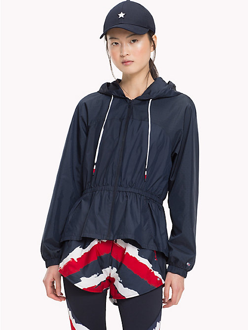 TOMMY HILFIGER Air Mesh Peplum Windbreaker - MIDNIGHT - TOMMY HILFIGER Athleisure - main image
