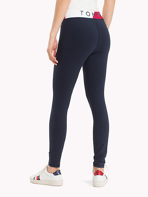 TOMMY HILFIGER Colour-Blocked Waistband Leggings - MIDNIGHT - TOMMY HILFIGER Athleisure - detail image 1