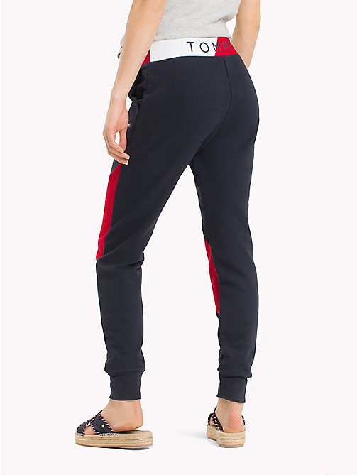 TOMMY HILFIGER Colour-Blocked Track Pants - MIDNIGHT - TOMMY HILFIGER Trousers - detail image 1