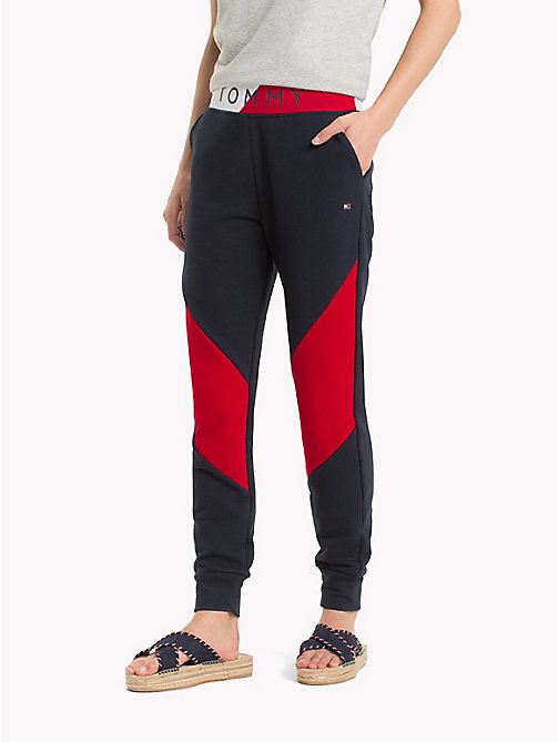 TOMMY HILFIGER Colour-Blocked Track Pants - MIDNIGHT - TOMMY HILFIGER Trousers - main image