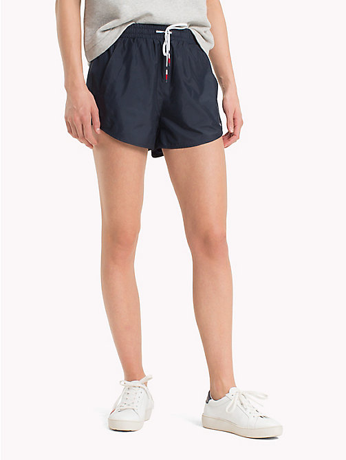 TOMMY HILFIGER Graphic Stripe Shorts - MIDNIGHT - TOMMY HILFIGER Athleisure - main image