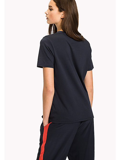 TOMMY HILFIGER Crew Neck Logo T-Shirt - MIDNIGHT - TOMMY HILFIGER Athleisure - detail image 1