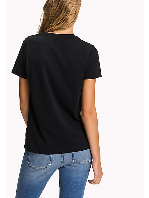 TOMMY HILFIGER Crew Neck Logo T-Shirt - BLACK BEAUTY - TOMMY HILFIGER T-Shirts - detail image 1