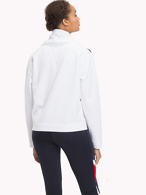 TOMMY HILFIGER Funnel Neck Colour-Blocked Jumper - CLASSIC WHITE - TOMMY HILFIGER Sweatshirts - detail image 1