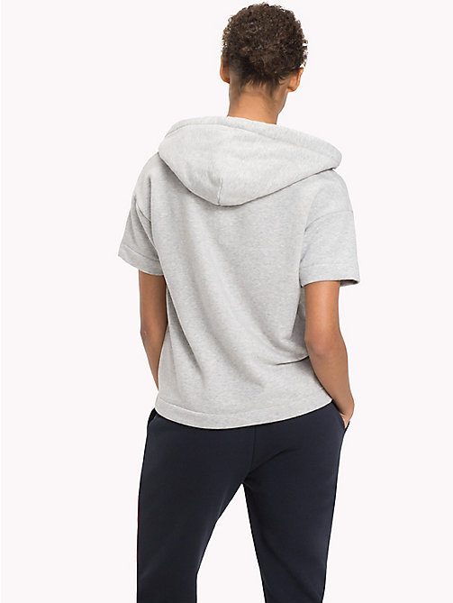 TOMMY HILFIGER Худи с короткими рукавами - LIGHT GREY HTR - TOMMY HILFIGER Athleisure - подробное изображение 1