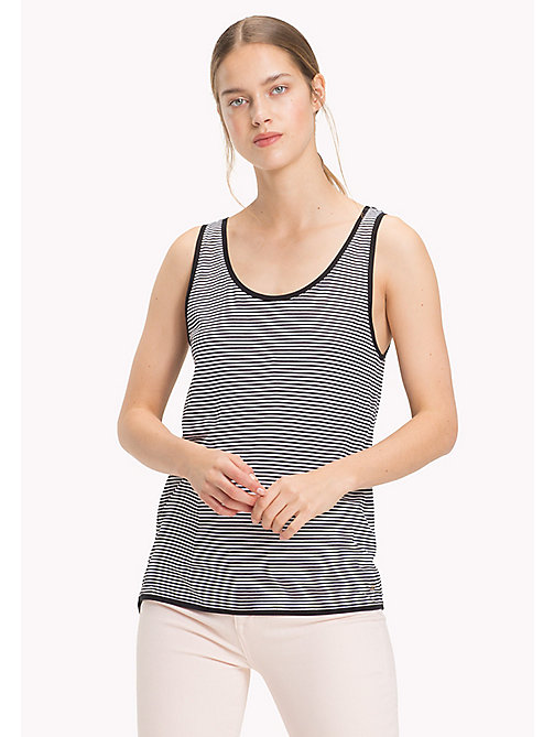 TOMMY HILFIGER Stripe Tank Top - BLACK BEAUTY / CLASSIC WHITE STP - TOMMY HILFIGER Tops - main image