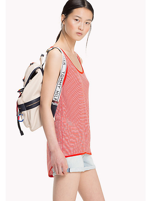 TOMMY HILFIGER Stripe Tank Top - FIESTA / CLASSIC WHITE STP - TOMMY HILFIGER NEW IN - main image