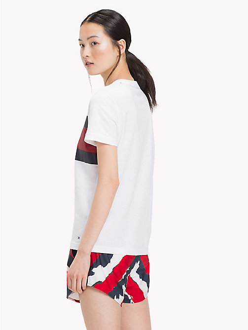 TOMMY HILFIGER Logo Flag T-Shirt - CLASSIC WHITE - TOMMY HILFIGER Tommy Days Women - detail image 1