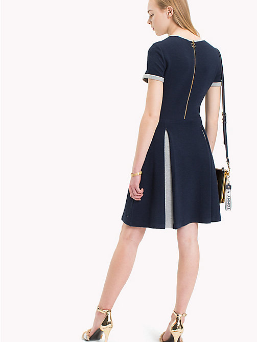 TOMMY HILFIGER Pleated Minidress - MIDNIGHT / LIGHT GREY HTR - TOMMY HILFIGER Dresses - detail image 1