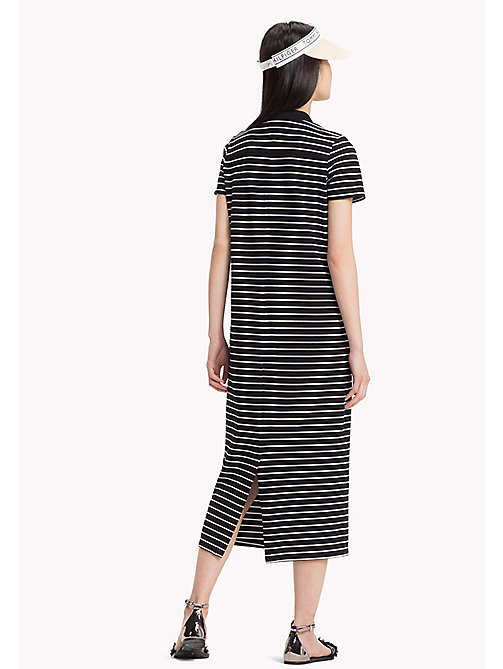 TOMMY HILFIGER Stripe Maxi Polo Dress - BLACK BEAUTY / CLASSIC WHITE STP - TOMMY HILFIGER Midi - detail image 1