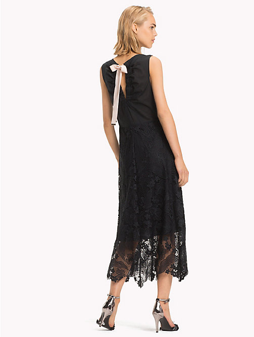 TOMMY HILFIGER Floral Lace Midi Dress - BLACK BEAUTY - TOMMY HILFIGER Dresses & Skirts - detail image 1