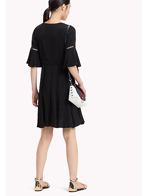 TOMMY HILFIGER Bell Sleeve Minidress - BLACK BEAUTY - TOMMY HILFIGER Mini - detail image 1