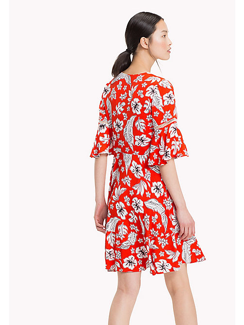 TOMMY HILFIGER Bell Sleeve Minidress - TROPICAL PRT / FIESTA - TOMMY HILFIGER Dresses & Skirts - detail image 1