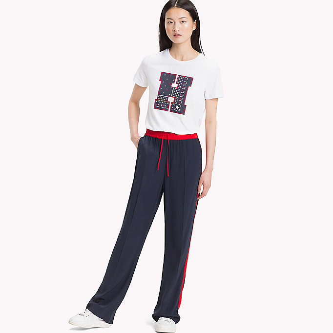 TOMMY HILFIGER Crew Neck Logo T-Shirt - MIDNIGHT - TOMMY HILFIGER Clothing - main image