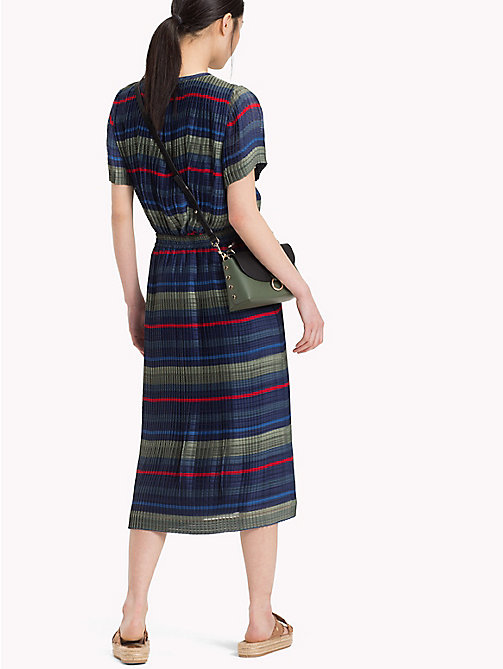 TOMMY HILFIGER Textured Stripe Midi Skirt - ALL OVER STP - TOMMY HILFIGER Skirts - detail image 1