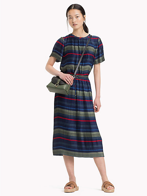 TOMMY HILFIGER Textured Stripe Midi Skirt - ALL OVER STP - TOMMY HILFIGER NEW IN - main image
