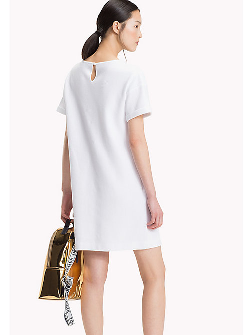 TOMMY HILFIGER Rib Knit Crew Neck Dress - CLASSIC WHITE - TOMMY HILFIGER Mini - detail image 1