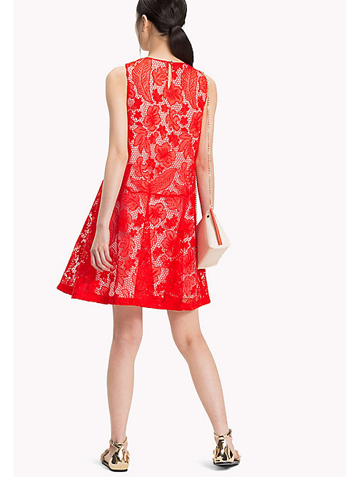 TOMMY HILFIGER A-Line Floral Lace Dress - FIESTA - TOMMY HILFIGER Occasion wear - detail image 1