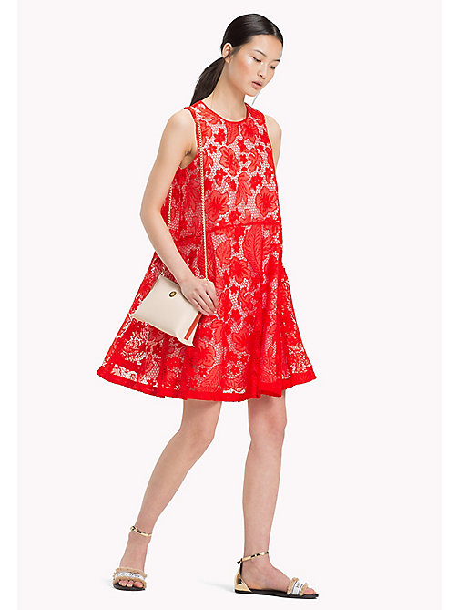 TOMMY HILFIGER A-Line Floral Lace Dress - FIESTA -  Occasion wear - main image