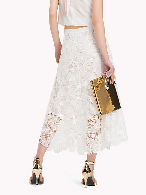 TOMMY HILFIGER Floral Lace Midi Skirt - SNOW WHITE - TOMMY HILFIGER Occasion wear - detail image 1