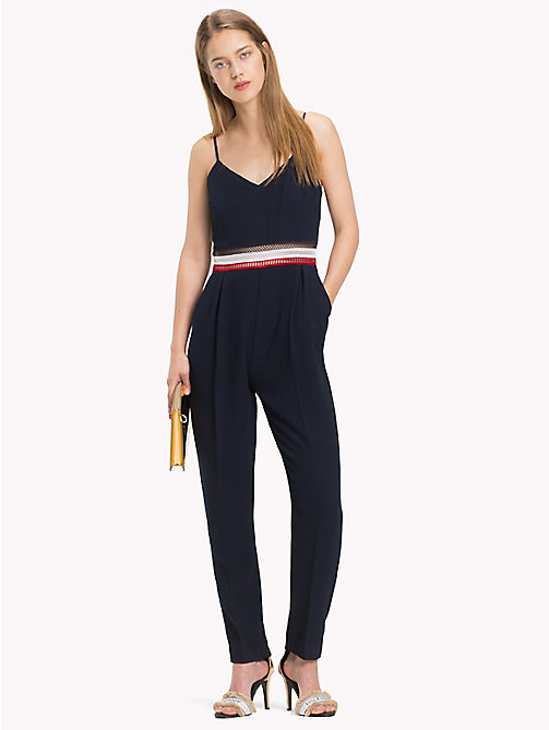 TOMMY HILFIGER Signature Mesh Jumpsuit - MIDNIGHT - TOMMY HILFIGER Jumpsuits - main image