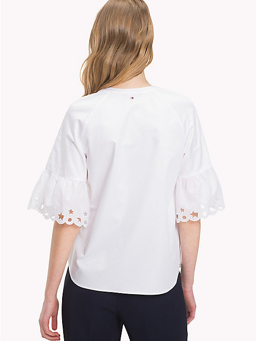 Embroidered Blouse - CLASSIC WHITE - TOMMY HILFIGER Clothing - detail image 1