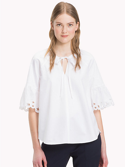 Embroidered Blouse - CLASSIC WHITE - TOMMY HILFIGER Clothing - main image