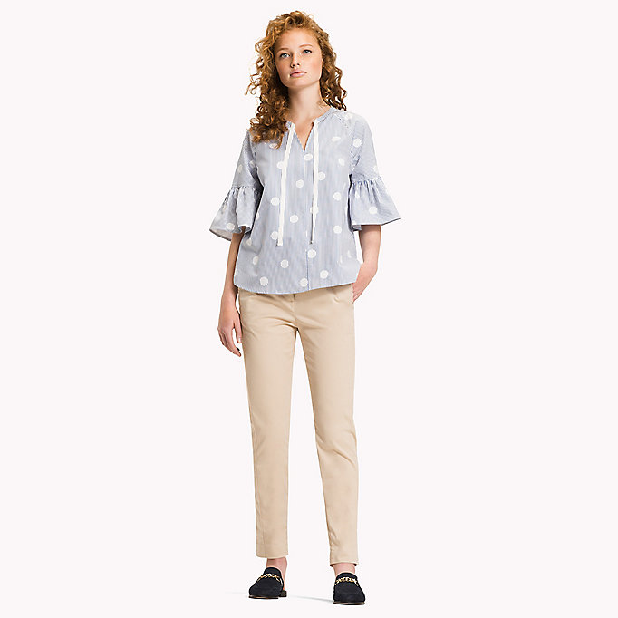 TOMMY HILFIGER Embroidered Blouse - CLASSIC WHITE - TOMMY HILFIGER Women - main image