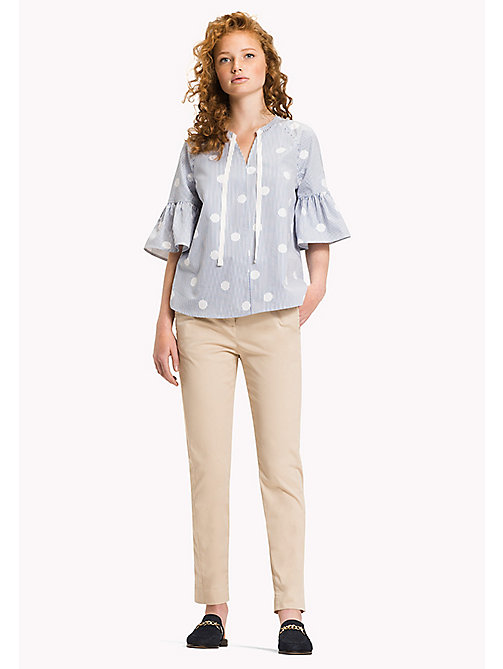 TOMMY HILFIGER Embroidered Blouse - OVERSIZED OVERPRINTED POLKA DOT PRT / CL - TOMMY HILFIGER Tops - main image