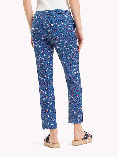 TOMMY HILFIGER Printed Ankle Slit Trousers - DITSY FLORAL / SKY CAPTAIN - TOMMY HILFIGER NEW IN - detail image 1