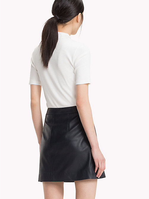 TOMMY HILFIGER Buttoned Leather Skirt - MIDNIGHT - TOMMY HILFIGER Skirts - detail image 1