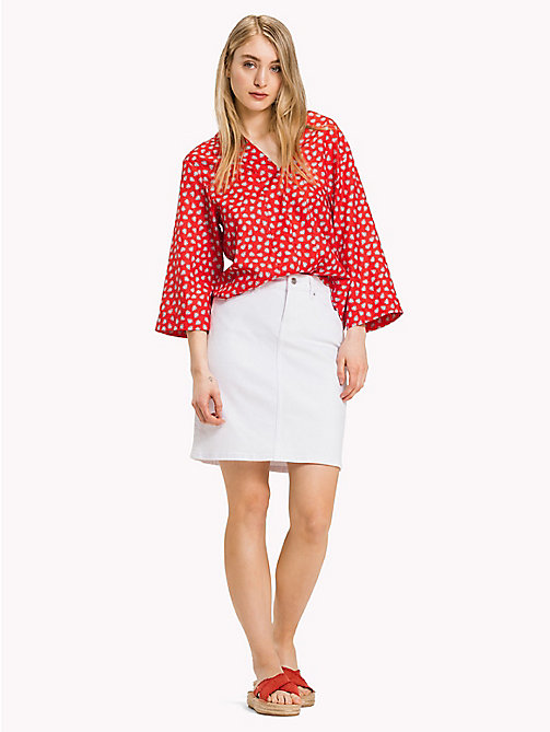 TOMMY HILFIGER Stretch Slim Fit Skirt - CLASSIC WHITE - TOMMY HILFIGER Skirts - main image