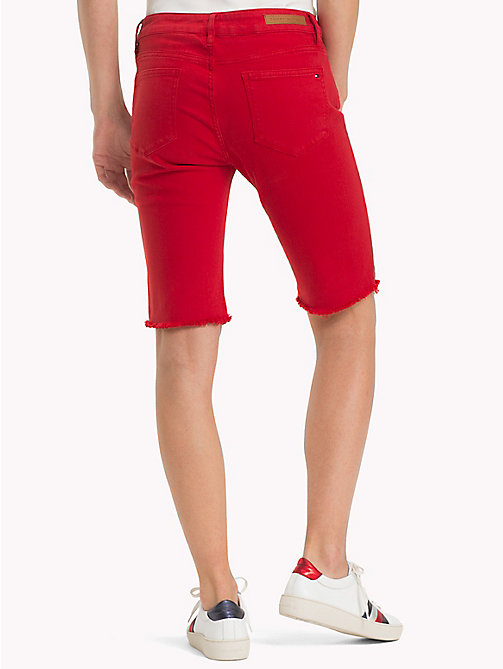 TOMMY HILFIGER Skinny Fit Bermuda Shorts - POMPEIAN RED - TOMMY HILFIGER Clothing - detail image 1