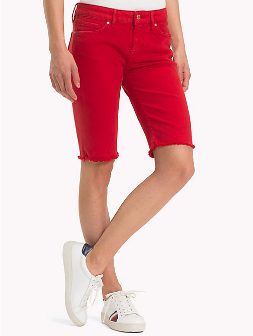 TOMMY HILFIGER Skinny Fit Bermuda Shorts - POMPEIAN RED - TOMMY HILFIGER Trousers & Shorts - main image