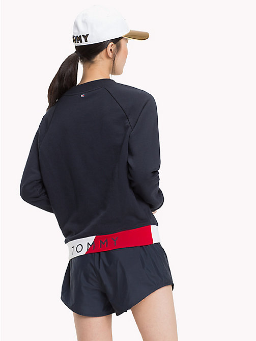 TOMMY HILFIGER Colour-Blocked Logo Jumper - MIDNIGHT - TOMMY HILFIGER Athleisure - detail image 1
