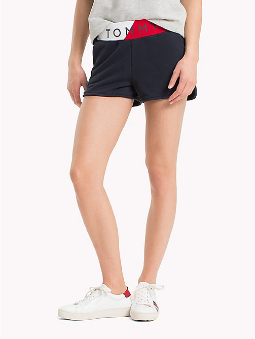 TOMMY HILFIGER Colour-Blocked Logo Shorts - MIDNIGHT - TOMMY HILFIGER Tommy Days Women - main image