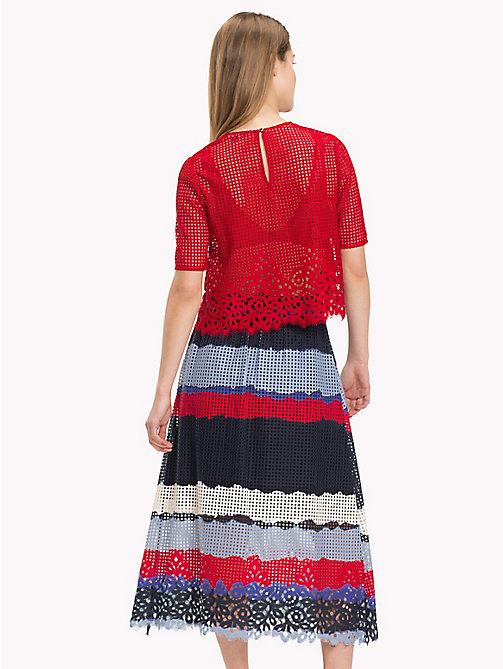 TOMMY HILFIGER Entredeux Lace Top - POMPEIAN RED - TOMMY HILFIGER Occasion wear - detail image 1